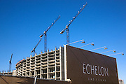 Construction has stopped on the huge Echelon Hotel and Casino because of the economy, Las Vegas, Nevada.