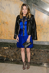 Rosie Fortescue on the front row during the Julien Macdonald Autumn/Winter 2017 London Fashion Week show at Goldsmith's Hall, London.PRESS ASSOCIATION Photo. Picture date: Saturday February 18th, 2017. Photo credit should read: Matt Crossick/PA Wire.