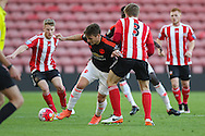 Manchester United Guillermo Varela on the ball during the Barclays U21 Premier League match between U21 Southampton and U21 Manchester United at the St Mary's Stadium, Southampton, England on 25 April 2016. Photo by Phil Duncan.
