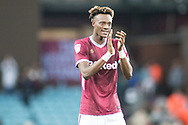 Tammy Abraham of Aston Villa (18) thanks the fans during the EFL Sky Bet Championship match between Aston Villa and Rotherham United at Villa Park, Birmingham, England on 18 September 2018.