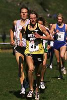 Friidrett. NM terrengløp 2002. Osterøy. 13.04.2002.<br /> Trond Idland fra Gjesdal. Vinner 2 km junior.<br /> Foto: Chris Kyllingmark, Digitalsport