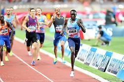 July 21, 2017 - Monaco, Monaco - Emmanuel Korir of Kenya runs to win the 800m of the IAAF Diamond League Herculis meeting at the Stade Louis II in Monaco on July 17, 2017. (Credit Image: © Manuel Blondeau via ZUMA Wire)