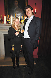 NICK & BEATRICE WALDUCK at a dinner hosted by Ruinart in honour of artist Natasha Law held at Soho House, 21 Old Compton Street, London on 16th January 2008.<br /> <br />  (EMBARGOED FOR PUBLICATION IN UK MAGAZINES UNTIL 1 MONTH AFTER CREATE DATE AND TIME) www.donfeatures.com  +44 (0) 7092 235465