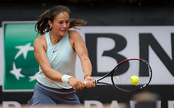 May 14, 2019 - Rome, ITALY - Daria Kasatkina of Russia in action during her first-round match at the 2019 Internazionali BNL d'Italia WTA Premier 5 tennis tournament (Credit Image: © AFP7 via ZUMA Wire)
