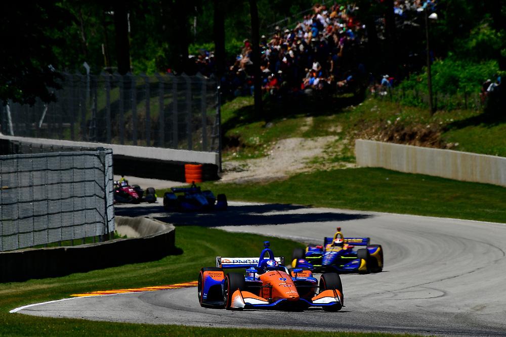 Scott Dixon, Chip Ganassi Racing Honda<br /> Sunday 24 June 2018<br /> KOHLER Grand Prix at Road America<br /> Verizon IndyCar Series<br /> Road America WI USA<br /> World Copyright: Scott R LePage