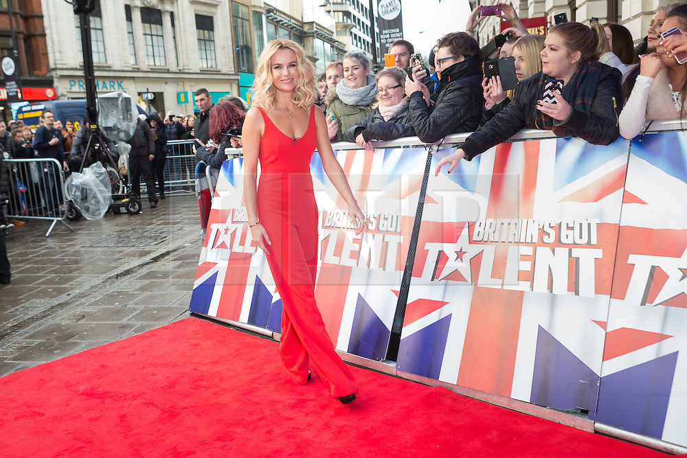 """© Licensed to London News Pictures. 22/01/2016. London, UK. Amanda Holden arrives at The Dominion Theatre in London for the """"Britain's Got Talent"""" auditions. Photo credit : Vickie Flores/LNP"""
