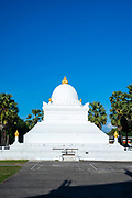 View of the Stupa at Wat Wisunarat (Wat Visoun), a Buddhist temple in Luang Prabang, Laos.