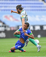 Blackburn Rovers' Ben Brereton battles with Wigan Athletic's Nathan Byrne<br /> <br /> Photographer Dave Howarth/CameraSport<br /> <br /> The EFL Sky Bet Championship - Wigan Athletic v Blackburn Rovers - Saturday 27th June 2020 - DW Stadium - Wigan<br /> <br /> World Copyright © 2020 CameraSport. All rights reserved. 43 Linden Ave. Countesthorpe. Leicester. England. LE8 5PG - Tel: +44 (0) 116 277 4147 - admin@camerasport.com - www.camerasport.com