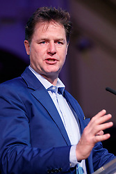 "© Licensed to London News Pictures. 13/05/2017. London, UK. Former Liberal Democrat leader NICK CLEGG speaks on the impact of Brexit in politics at ""The Convention on Brexit"" event at Westminster Central Hall in London on Saturday, 13 May 2017. Photo credit: Tolga Akmen/LNP"
