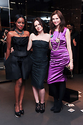 Left to right, KEISHA BUCHANAN, EILIDH MacASKILL and SOPHIE ELLIS-BEXTOR at a party hosted by InStyle to celebrate the iconic glamour of Dolce & Gabbana held at D&G, 6 Old Bond Street, London on 3rd November 2010.