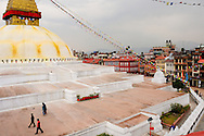 Nepal, Kathmandu. Boudnath Stupa - the centre of tibetan buddhism in Nepal.