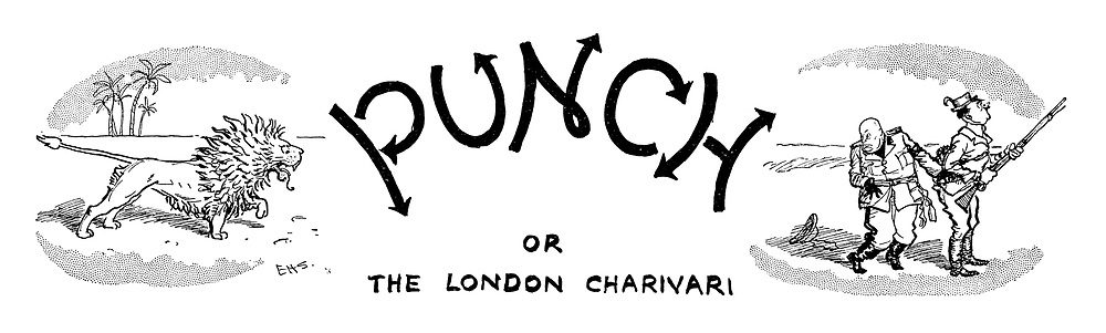 (Punch Charivaria heading 24 December 1941) The British Lion chases Mussolini and Hitler