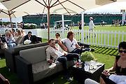 GERRY DE VAUX; MANUEL MALEMOTTI, Cartier International Polo. Smiths Lawn. Windsor. 24 July 2011. <br /> <br />  , -DO NOT ARCHIVE-© Copyright Photograph by Dafydd Jones. 248 Clapham Rd. London SW9 0PZ. Tel 0207 820 0771. www.dafjones.com.