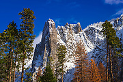Sentinel Rock in winter, Yosemite National Park, California USA