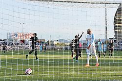 July 13, 2018 - Clermont-Ferrand - Stade Gabrie, France - Joie de Arnaud Nordin (saint etienne) vs Florian Escales  (Credit Image: © Panoramic via ZUMA Press)
