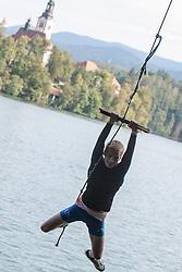 Tim Mahne during rowing at Slovenian National Championship and farewell of Iztok Cop, on September 22, 2012 at Lake Bled, Ljubljana Slovenia. (Photo By Matic Klansek Velej / Sportida)