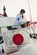 Japans Wax technician during the mens snowboard big air qualification at the Pyeongchang 2018 Winter Olympics on February 21st 2018, at the Alpensia Ski Jumping Centre in Pyeongchang-gun, South Korea