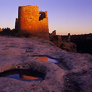 Hovenweep Tower in Hovenweep National Monument, CO-UT.
