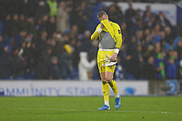 Football - 2019 / 2020 Premier League - Brighton & Hove Albion vs. Everton<br /> <br /> Jordan Pickford of Everton looks dejected after conceding a late own goal at The Amex Stadium Brighton <br /> <br /> COLORSPORT/SHAUN BOGGUST