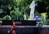 Karolina Pliskova of the Czech Republic during practice ahead of the 2021 Internazionali BNL d'Italia, WTA 1000 tennis tournament on May 10, 2021 at Foro Italico in Rome, Italy - Photo Rob Prange / Spain ProSportsImages / DPPI / ProSportsImages / DPPI