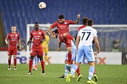September 28, 2017 - Roma, ITALY - Lazio's Davide Di Gennaro and Essevee's Grigoris Kastanos fight for the ball during a soccer game between Italian club Societa Sportiva Lazio and Belgian team SV Zulte Waregem, in Roma, Italy, Thursday 28 September 2017, the second game of the group stage (Group K) of the UEFA Europa League competition. BELGA PHOTO YORICK JANSENS (Credit Image: © Yorick Jansens/Belga via ZUMA Press)