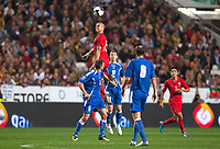 20091114: LISBON, PORTUGAL - Portugal vs Bosnia and Herzegovina - Worldcup 2010 Play-off 1st leg. In picture: Pepe (Portugal) higher that everone else. PHOTO: Carlos Rodrigues/CITYFILES
