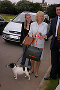 Laura Parker Bowles, The Duchess of Cornwall and  her Jack Russell 'Tosca' Cornwall.  Macmillan Dog Day in aid of Macmillan Cancer Relief. Royal Hospital Chelsea, 5 July 2005. ONE TIME USE ONLY - DO NOT ARCHIVE  © Copyright Photograph by Dafydd Jones 66 Stockwell Park Rd. London SW9 0DA Tel 020 7733 0108 www.dafjones.com