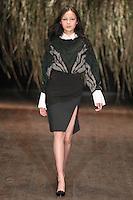 Xiao Wen Ju walks down runway for F2012 Altuzarra's collection in Mercedes Benz fashion week in New York on Feb 10, 2012 NYC's