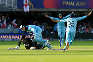 England Are World Champions - Martin Guptill of New Zealand is run out in the super over and England win the World Cup during the ICC Cricket World Cup 2019 Final match between New Zealand and England at Lord's Cricket Ground, St John's Wood, United Kingdom on 14 July 2019.