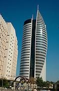 High rise modern building in Downtown Haifa, Israel.