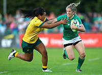 Rugby Union - 2017 Women's Rugby World Cup (WRWC) - Pool C: Ireland vs. Australia<br /> <br /> Ireland's Alison Miller in action against Australia's Kayla Sauvao  , at the UCD Bowl, Dublin.<br /> <br /> COLORSPORT/KEN SUTTON