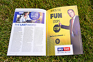 SkyBET advert in programme ahead of the EFL Sky Bet League 1 match between Gillingham and Coventry City at the MEMS Priestfield Stadium, Gillingham, England on 25 August 2018.