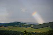 Arc-en-ciel inattendu sur le massif du Lingas.