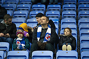 Reading fans during the EFL Sky Bet Championship match between Reading and Luton Town at the Madejski Stadium, Reading, England on 9 November 2019.