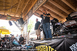 Grease and Gears Garage at the Broken Spoke on the Iron Horse Saloon lot during the annual Sturgis Black Hills Motorcycle Rally.  SD, USA.  August 9, 2017.  Photography ©2017 Michael Lichter.