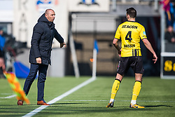 (L-R) coach Maurice Steijn of VVV Venlo, Roel Janssen of VVV Venlo during the Dutch Eredivisie match between PEC Zwolle and VVV Venlo at the MAC3Park stadium on March 04, 2018 in Zwolle, The Netherlands