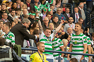 Jonny Hayes holds the William Hill Scottish Cup aloft following their victory today in the William Hill Scottish Cup Final match between Heart of Midlothian and Celtic at Hampden Park, Glasgow, United Kingdom on 25 May 2019.