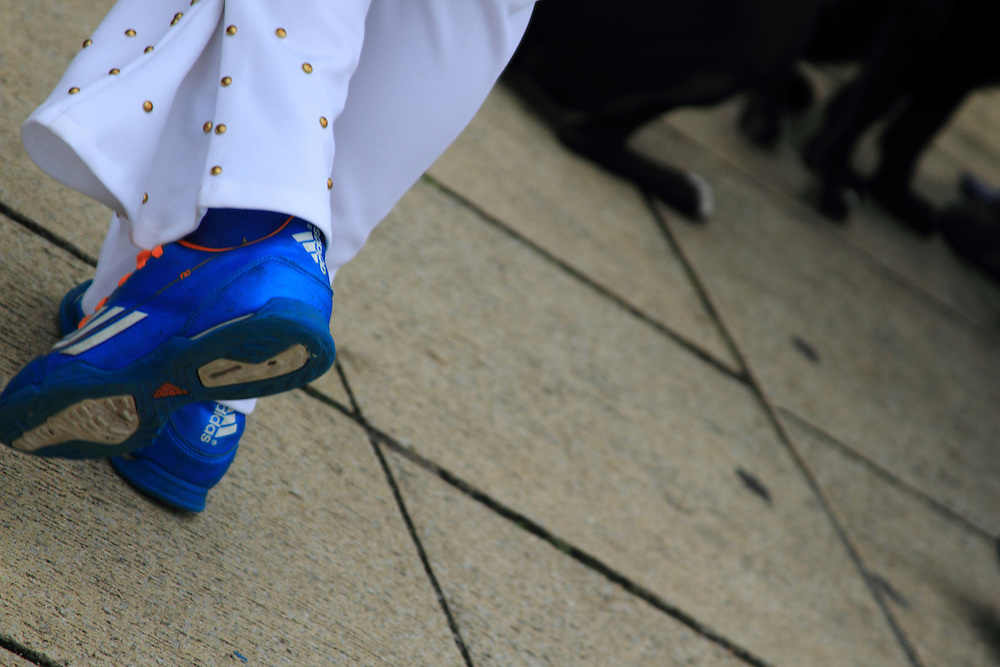 Blue suede shoes? Each year the South Wales seaside town of Porthcawl is home to the Elvis Festival