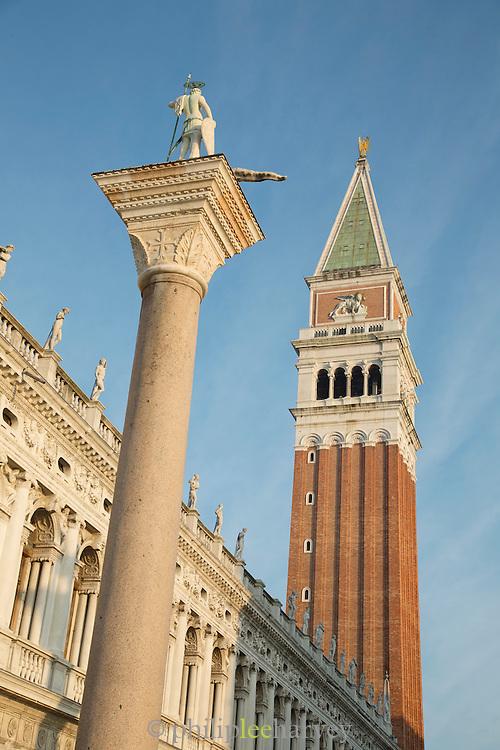 The Campanile di San Marco, St Mark's Square.Venice, Italy, Europe