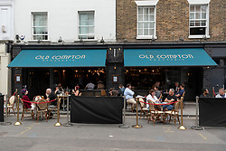 © Licensed to London News Pictures. 04/07/2020. London, UK. Restaurants and bars reopen for customers after a relaxing of rules during the Covid-19 pandemic. Photo credit: Ray Tang/LNP