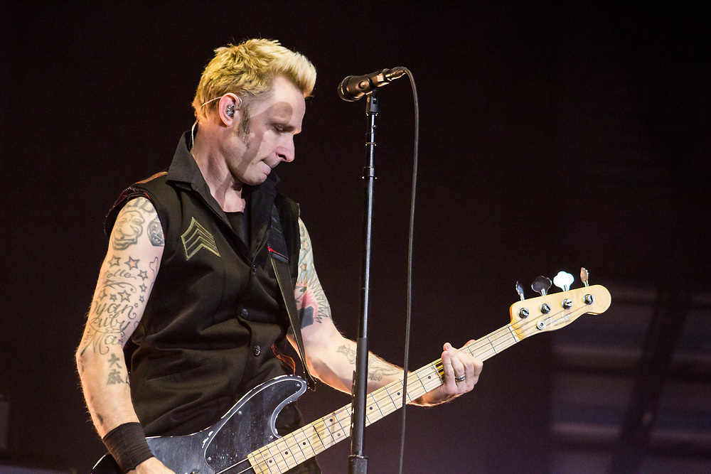 Green Day performing at the Resch Center in Green Bay, WI on March 30, 2017.