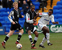 Photo: Paul Greenwood.<br />Tranmere Rovers v Swansea City. Coca Cola League 1. 10/03/2007. Tranmere's Calvin Zola (R) looses out to Dennis Lawrence