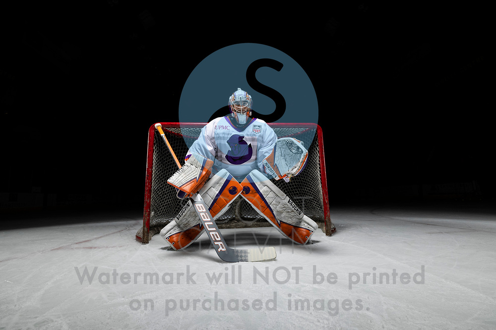 Youngstown Phantoms player photo shoot on April 14, 2021. <br /> <br /> Kyle Chauvette, goalie, 29