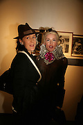 Lucy Ferry and Daphne Guinness, Michael Roberts - book launch party hosted by Vanity Fair to celebrate  publication, Shot In Sicily. Hamiltons Gallery, 13 Carlos Place, London,17 September 2007. -DO NOT ARCHIVE-© Copyright Photograph by Dafydd Jones. 248 Clapham Rd. London SW9 0PZ. Tel 0207 820 0771. www.dafjones.com.