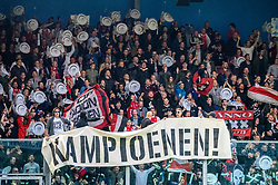 15-05-2019 NED: De Graafschap - Ajax, Doetinchem<br /> Round 34 / It wasn't really exciting anymore, but after the match against De Graafschap (1-4) it is official: Ajax is champion of the Netherlands / Ajax support, banner