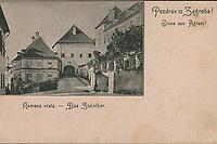 Pozdrav iz Zagreba! : Kamenita vrata = Gruss aus Agram : Das Steinthor. <br /> <br /> Impresum[S. l. : S. n., prije 1904].<br /> Materijalni opis1 razglednica : tisak ; 8,6 x 13,9 cm.<br /> Vrstavizualna građa • razglednice<br /> ZbirkaGrafička zbirka NSK • Zbirka razglednica<br /> Formatimage/jpeg<br /> PredmetZagreb –– Kamenita vrata<br /> SignaturaRZG-KAM-8<br /> Obuhvat(vremenski)19. stoljeće • 20. stoljeće<br /> NapomenaRazglednica nije putovala.<br /> PravaJavno dobro<br /> Identifikatori000953405<br /> NBN.HRNBN: urn:nbn:hr:238:825929 <br /> <br /> Izvor: Digitalne zbirke Nacionalne i sveučilišne knjižnice u Zagrebu