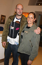 Artist JAKE CHAPMAN with his wife at an opening party for artist Paul McCarthy's exhibition 'LaLa Land Parody Paradise' held at the Whitechapel Gallery, 80-82 Whitechapel High Street, London E1 on 22nd October 2005.<br /><br />NON EXCLUSIVE - WORLD RIGHTS