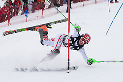 21.12.2010, Stade Emile Allais, Courchevel, FRA, FIS World Cup Ski Alpin, Ladies, Slalom, im Bild Alexandra Daum (AUT) crashes out competing in the FIS Alpine skiing World Cup ladies slalom race in Courchevel 1850, France. EXPA Pictures © 2010, PhotoCredit: EXPA/ M. Gunn