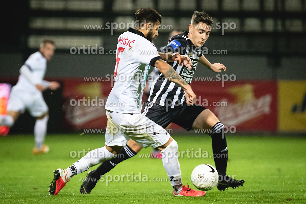 during football match between NS Mura and Aluminij in 7th Round of Prva liga Telekom Slovenije 2020/21, on October 18, 2020 in Mestni stadion Fazanerija, Murska Sobota, Slovenia. Photo by Blaž Weindorfer / Sportida