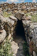 Pictures & Images of the tunnel under the Postern Gate, Alaca Hoyuk (Alacahoyuk) Hittite archaeological site  Alaca, Çorum Province, Turkey, Also known as Alacahüyük, Aladja-Hoyuk, Euyuk, or Evuk .<br /> <br /> If you prefer to buy from our ALAMY PHOTO LIBRARY  Collection visit : https://www.alamy.com/portfolio/paul-williams-funkystock/alaca-hoyuk-hittite-site.html<br /> <br /> Visit our TURKEY PHOTO COLLECTIONS for more photos to download or buy as wall art prints https://funkystock.photoshelter.com/gallery-collection/3f-Pictures-of-Turkey-Turkey-Photos-Images-Fotos/C0000U.hJWkZxAbg